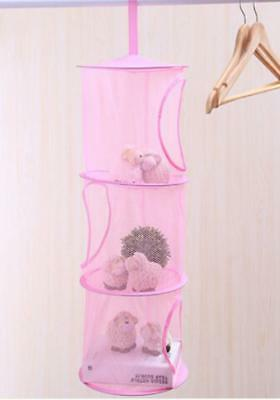 6 Layers Toys Storage Hanging Mesh Basket Chest Soft Hammock Net J