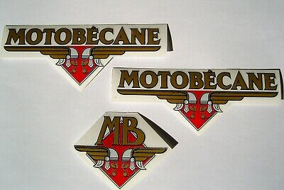 1 LOT D' AUTOCOLLANTS  MOTOBECANE TYPE D45 - Z2 ( ref 1B) fond transparent.