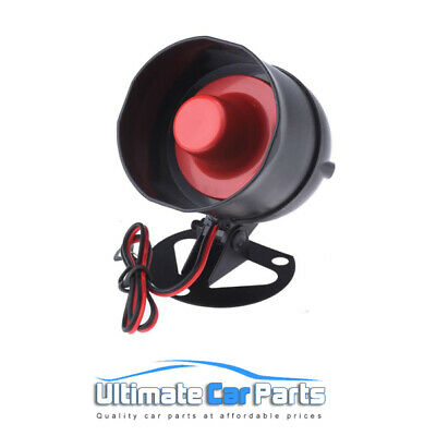 Car 12v Siren Alarm Horn 6 Tone For After Market Alarms, Easy Fit Replacement UK