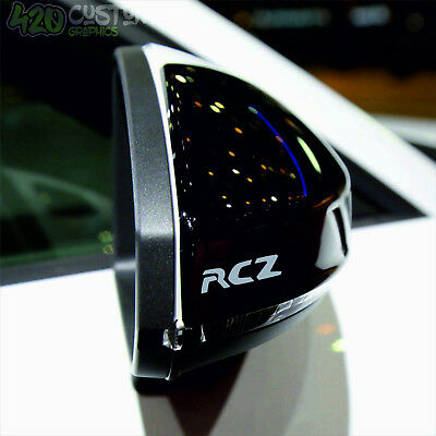 4 X PEUGEOT RCZ  MIRROR  Decal Sticker Detail-Best Quality-Many Colours