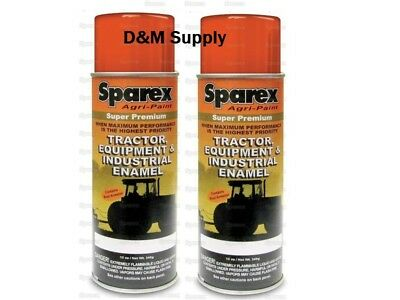 2 Cans Woods Mower Equipment Burnt Orange Super Premium Spray Paint