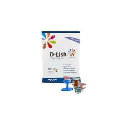 Young Dental 308120 D-Lish Prophy Paste Medium Berry Bliss Unit Does Cups 200/Bx