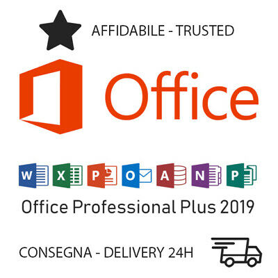 Microsoft Office 2019 Professional Plus Licenza Key 32/64 Bit 1PC Consegna 24H
