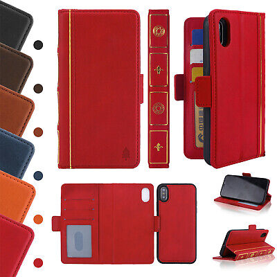Vintage Book Classic Retro Leather Wallet Case Cover For iPhone XS MAX 8 7+ 6S 5