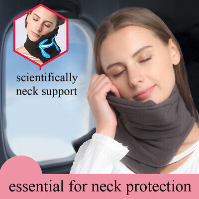 TRAVEL PILLOW Super Soft Neck Support (Gray) - Machine Washable