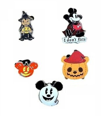 Halloween Themed 5 Specific Walt Disney World Park Trading Pins Set ~ Brand NEW