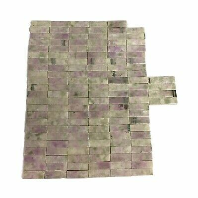 Purple & Green Trent Fireplace Tiles