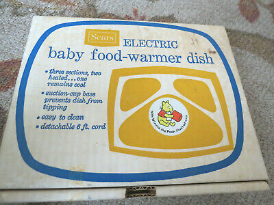 Vintage 1970's Sears  ELECTRIC BABY FOOD WARMER DISH Winnie the Pooh in Box