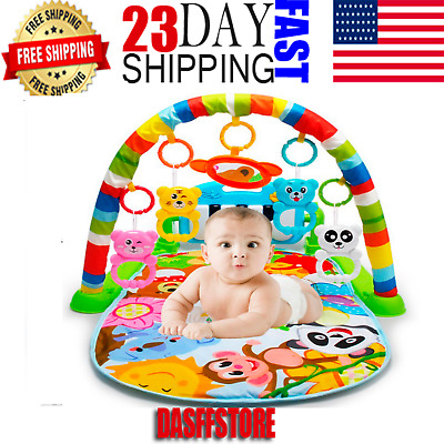 3 in 1 Baby Light Musical Gym Play Mat Lay & Play Fitness Fun Piano *Boy *Girl