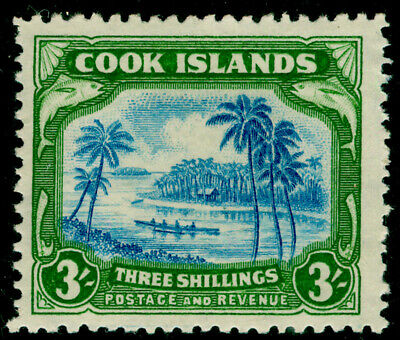 COOK ISLAND Sg145, 3s grenish blue and green, LH MINT. Cat £42.