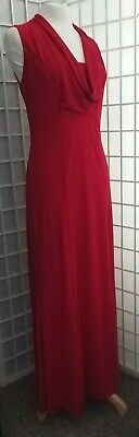 Stunning Bright Red Long M&Co Size 12 Evening Dress in VGC