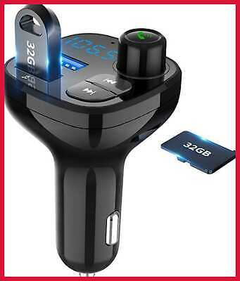 Bluetooth FM Transmitter For Car Wireless In Radio Adapter Kit W USB Charger MP3