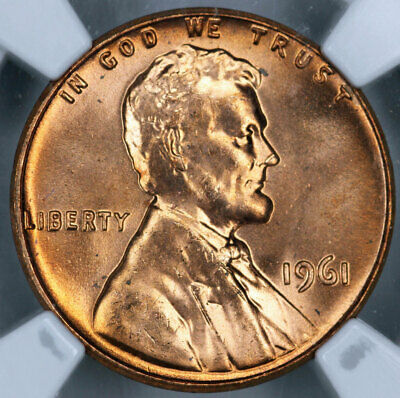 1961 NGC MS66RD Lincoln Cent