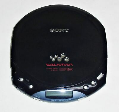 SONY WALKMAN ESPMAX D-E220 CD PLAYER in BLACK