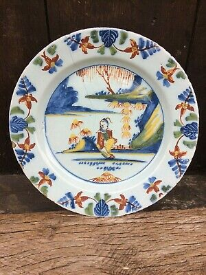 english delftware plate london 1760 delft faience maiolica 18th century xviii