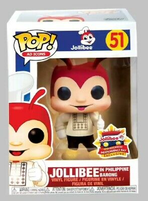 Funko Pop Ad Icons Jollibee BARONG #51 Exclusive Mint w/Protector USA In Stock