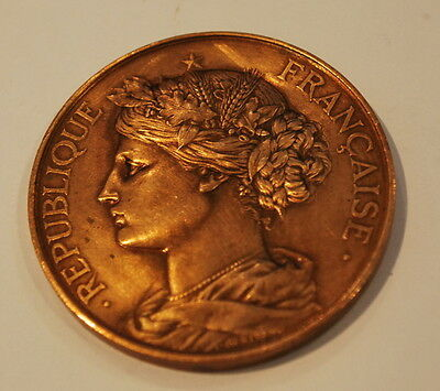 Medal Bronze Agricultural Pageant 1889 Belley a.Bertrand