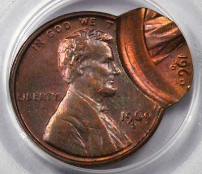 1969 D PCGS Double Struck Double Date Lincoln Cent Mint Error Great Eye Appeal