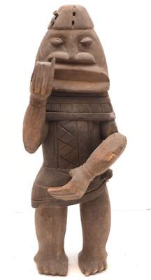 ATQ NEW CALEDONIA old pacific statue Totem carved wood tribal KANAK Melanesian