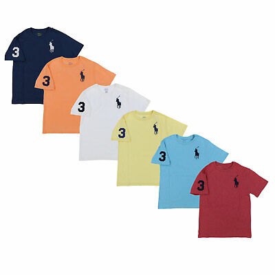 ad36c170a Polo Ralph Lauren Boys T-Shirt Short Sleeve Embroidered Big Pony Logo Tee  Shirt