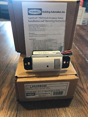 HUBBELL LIGHTHAWK ULTRASONIC 1-Circuit Wall Switch Sensor, LHUSS1W on