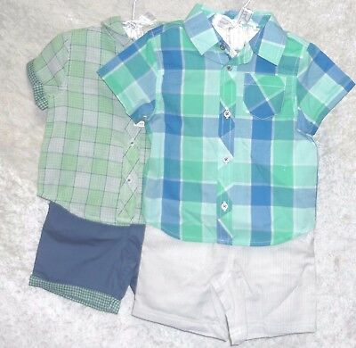 First Impressions Baby Boys Set Shirt Shorts Short Sleeves size 6-9M 18M NEW