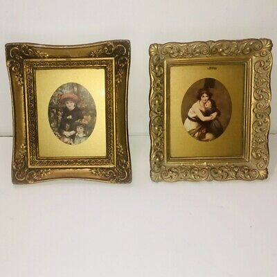 Vintage Gold Frames Lot Of Two Ornate On The Terrance Renoir Madame Daughter