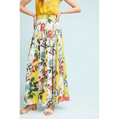 b7042fe417c0a Anthropologie Rococo Sand Aprile Skirt Floral Maxi Pleated 2 $158 5 STARS!