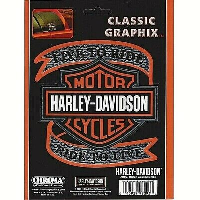 Harley-Davidson Live to Ride with Bar and Shield Decal / Sticker *Free Shipping
