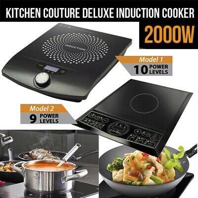 Portable 2000W Electric Induction Cooktop Hotplate Kitchen Cooker Hot Plate