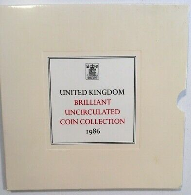 1986 UK ROYAL MINT UNCIRCULATED COIN COLLECTION includes booklet