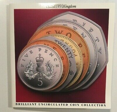 United Kingdom 1991 Royal Mint Brilliant Uncirculated 7 Coin Collection