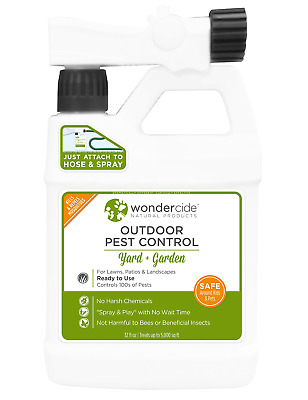 Wondercide Ready-to-Use Natural Outdoor Pest Control Spray - 32oz   Kills and of