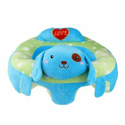 Baby Sitting Chair Baby Seat Learn To Sit Cute Animal Plush Toy- Blue Dog Y3F8