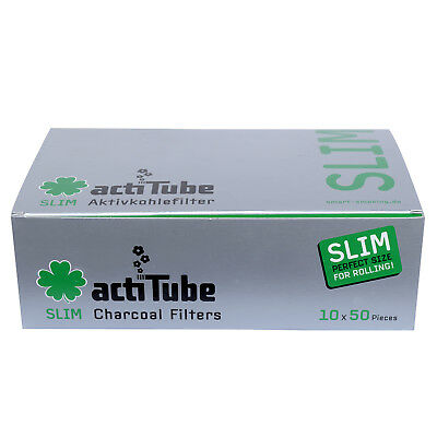 Actitube Carboni Attivi Filtro Tune Slim Pezzi Acti Tube 7mm 500