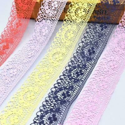 10 Yards Lace Ribbon 40MM Lace Trim DIY Embroidered For Sewing Decoration S V3K3