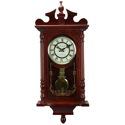 Vintage Marcel Wall Clock Golden With Hour Chime And