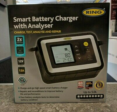Ring RSC612 12v 12A Car Van Intelligent Smart Battery Charger & Analyser Tester
