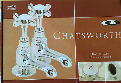 Traditional Twin Basin Sink Hot and Cold Taps Iflo Chatsworth Like  Bristan 1901