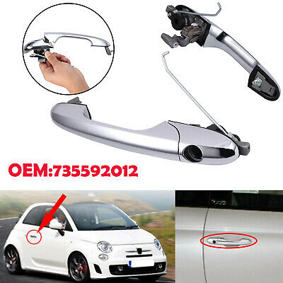 735592012 Right Driver Side door Handle Chrome Finish For Fiat 500 Offside UK