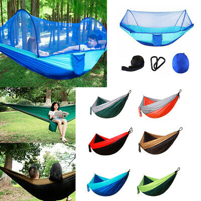 Double/Single Person Travel Outdoor Hammock Camping Swing Hanging Sleeping Bed