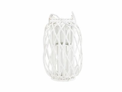 Natural Willow Candle Holder Lantern Rope Handle White Tall Mauritius