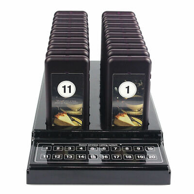 20X Restaurant Coaster Pager Guest Call Wireless Queuing Paging Calling System