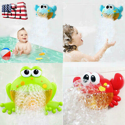 Crab&Frog Automatic Bubble Machine Musical Bubble Maker Baby Bath Shower Fun Toy