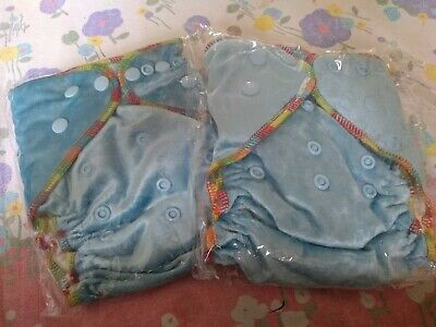 Organic bamboo velour with Organic bamboo boosters x 2 sky blue