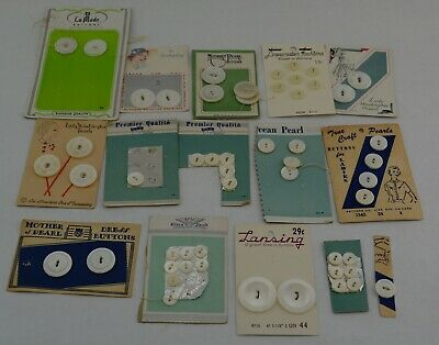 Vintage Mixed Button Lot, Partial-Mixed Buttons on cards, some Lady Washington