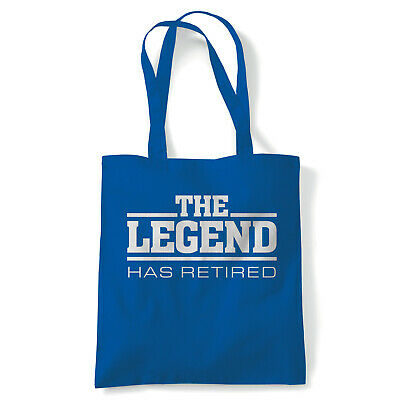 The Legend Has Retired Funny Tote - Reusable Shopping Canvas Bag Gift