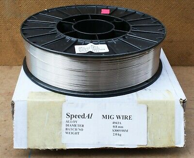 Aluminium Mig Wire 2 Kilo x 0.8MM Speed A1  (Material Spec Alloy 4043A)