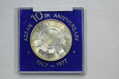 1977 Singapore $10 Asean Association of Southeast Asian Nations 10th Anniversary