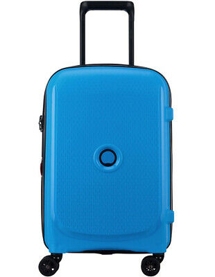 Delsey Belmont Plus 55cm 4 Wheels Cabin Case Metallic Blue